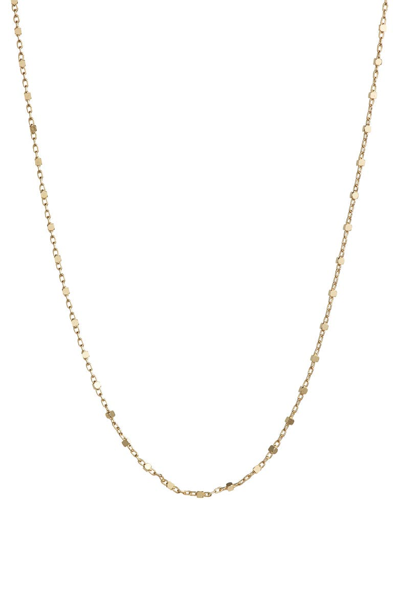 BONY LEVY 14K Gold Beaded Chain Necklace, Main, color, YELLOW GOLD