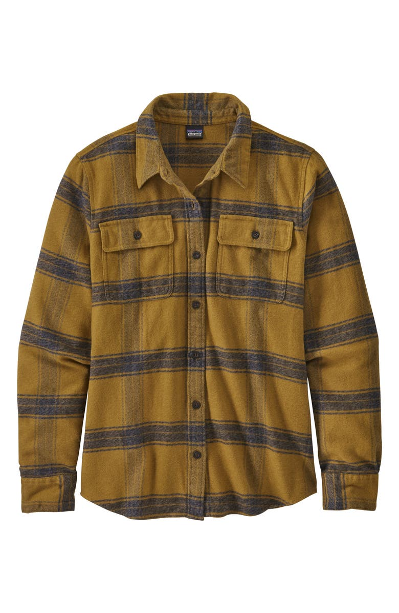 PATAGONIA Fjord Flannel Shirt, Main, color, MULCH BROWN