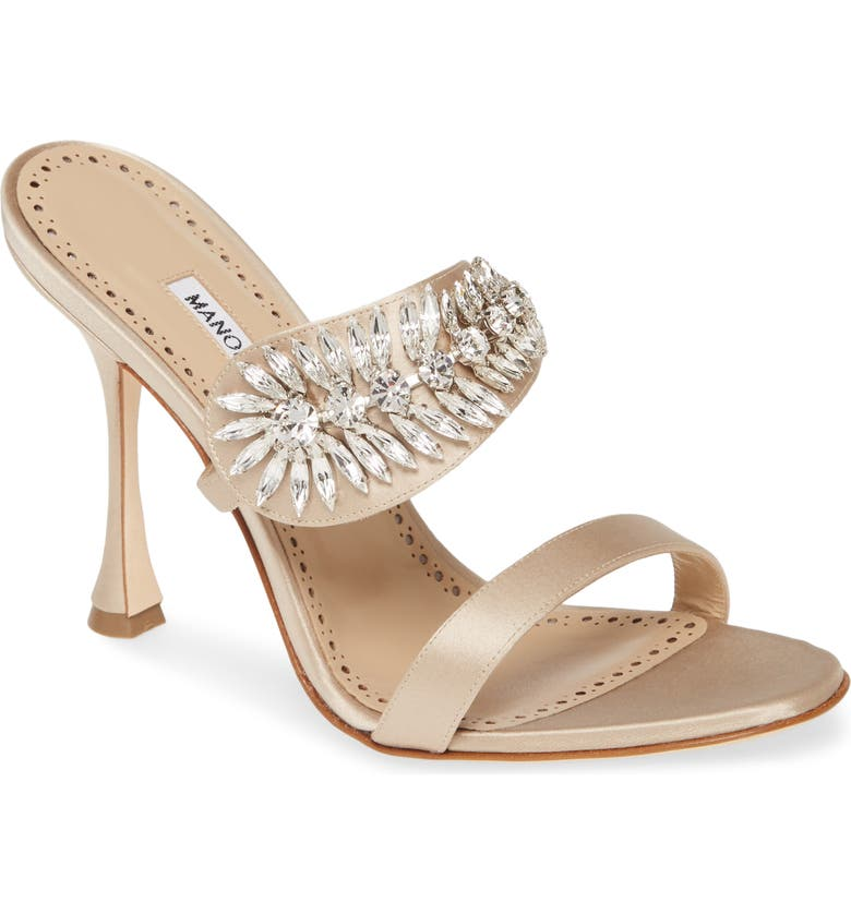 MANOLO BLAHNIK Skysan Crystal Embellished Sandal, Main, color, 710
