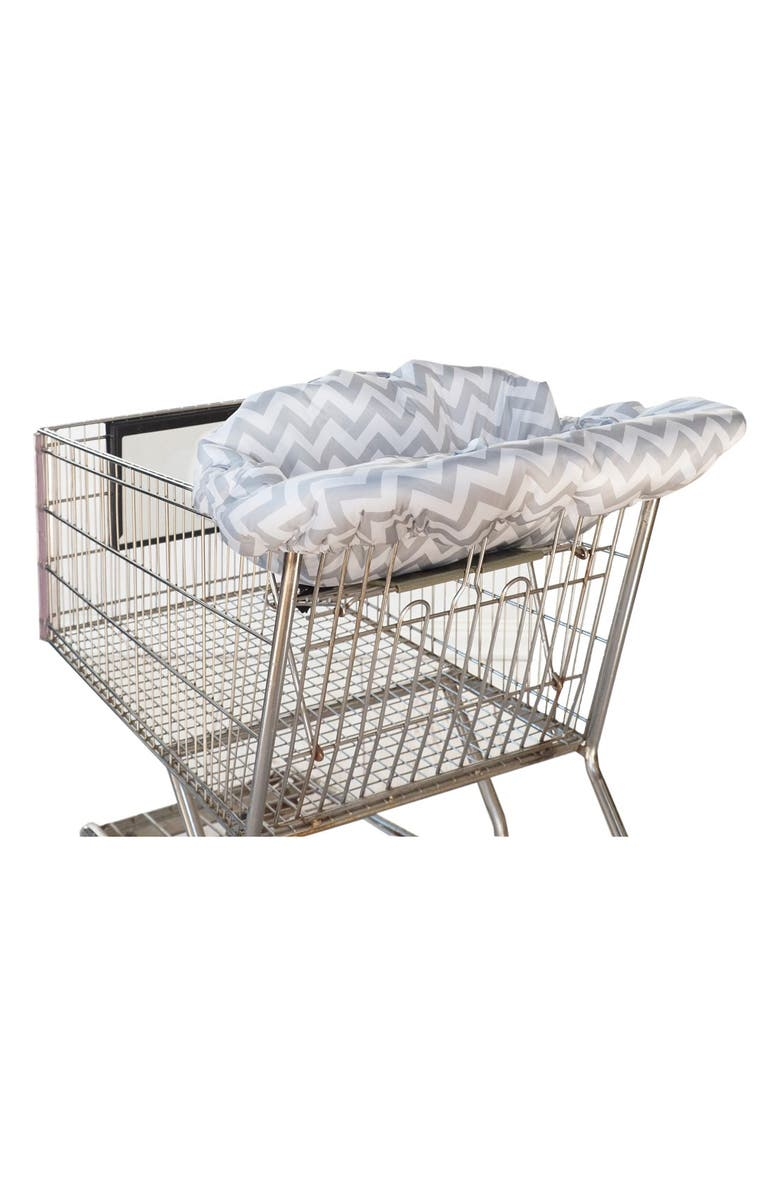 ITZY RITZY Shopping Cart/Highchair Cover, Main, color, GREY CHEVRON