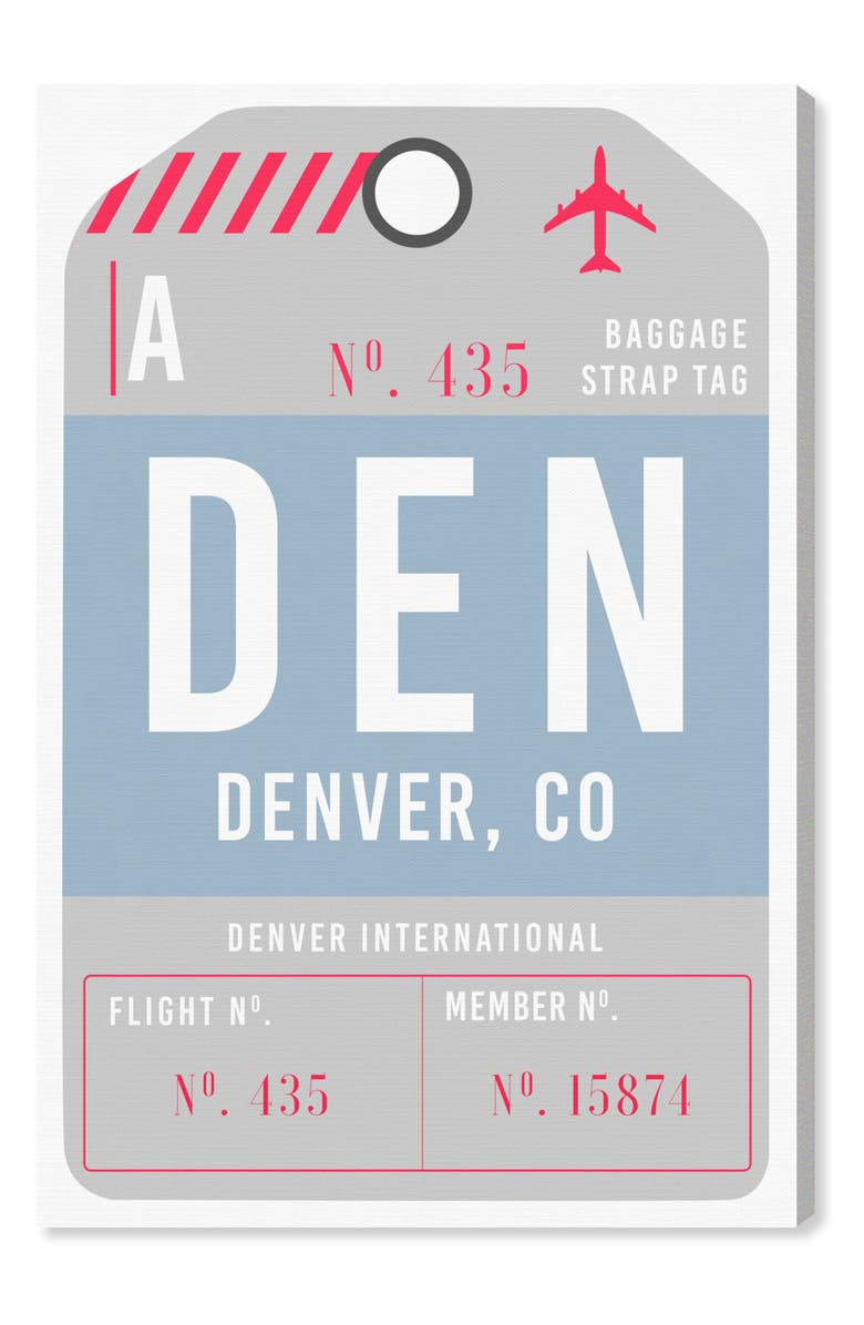 OLIVER GAL Denver Luggage Tag Wall Art, Main, color, 400