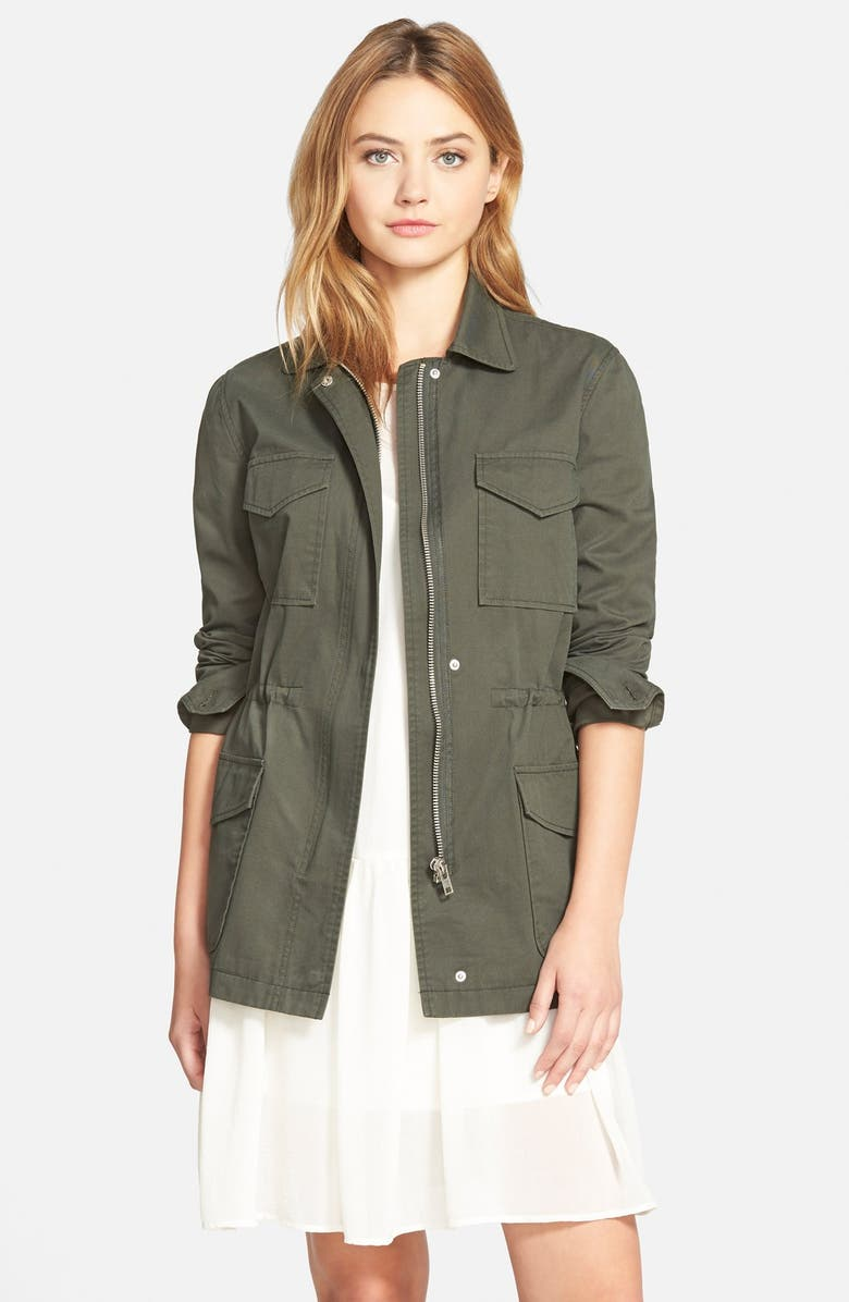 CUPCAKES AND CASHMERE 'Presidio' Military Jacket, Main, color, ARMY GREEN