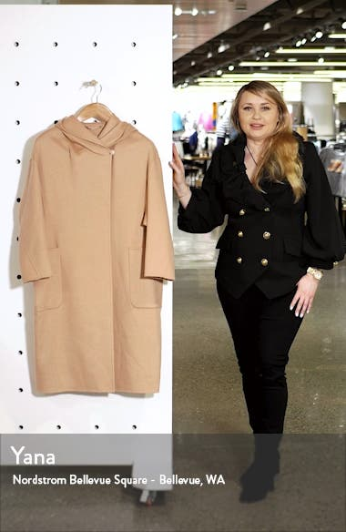 Pucci Hooded Double Face Camel Hair Coat, sales video thumbnail