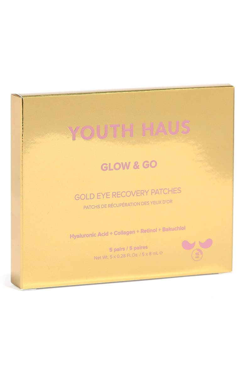 SKIN GYM 5-Pack Youth Haus Glow & Go Eye Patches, Main, color, No Color