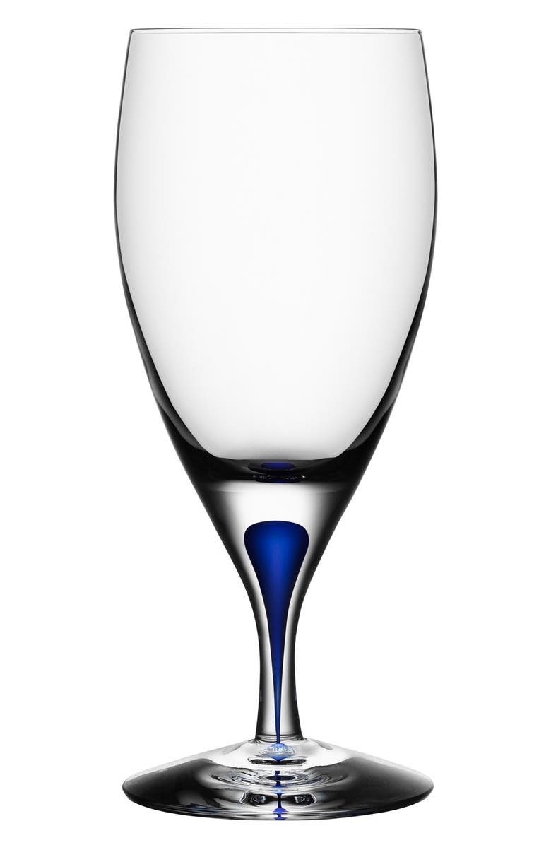 ORREFORS Intermezzo Iced Beverage Glass, Main, color, CLEAR/ BLUE