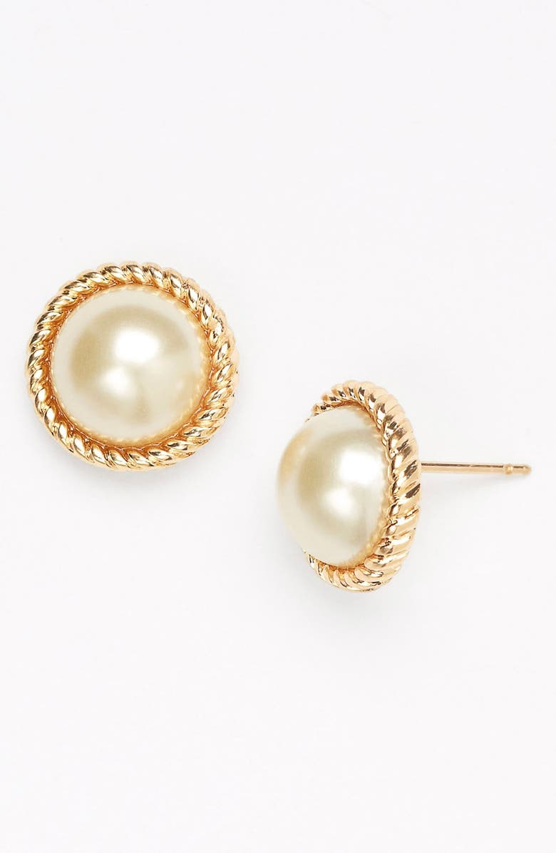 KATE SPADE NEW YORK 'seaport' faux pearl studs, Main, color, 900