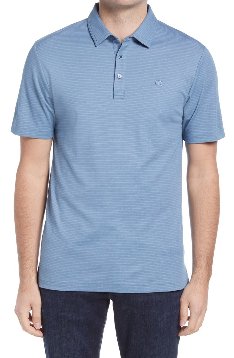 TRAVISMATHEW Panka Stripe Performance Polo, Main, color, 400