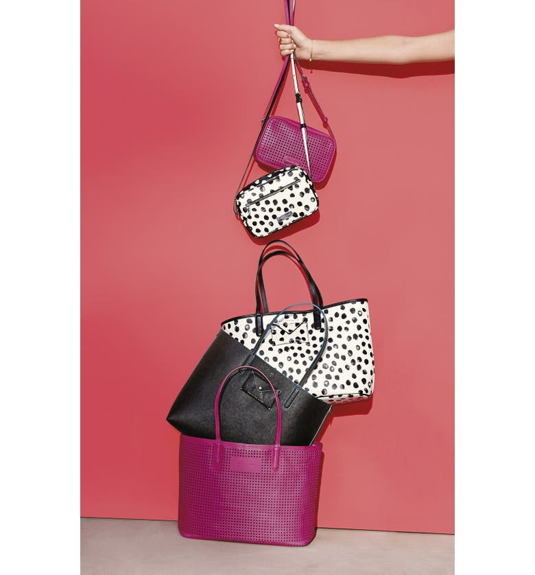 MARC JACOBS MARC BY MARC JACOBS 'Metropolitote 48' Perforated Leather Tote, Main, color, LECHE