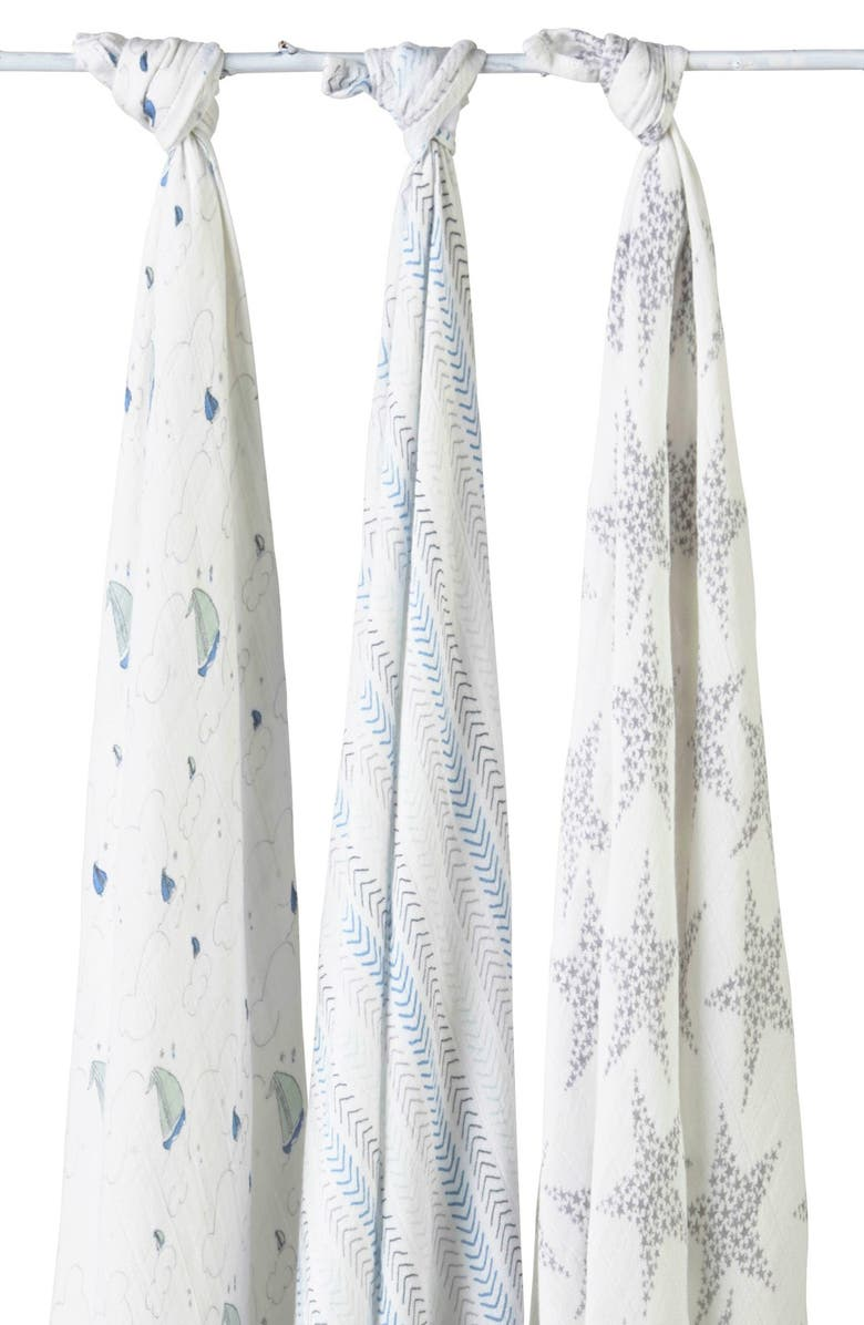 ADEN + ANAIS 'Sail Away' Swaddling Cloths, Main, color, 400