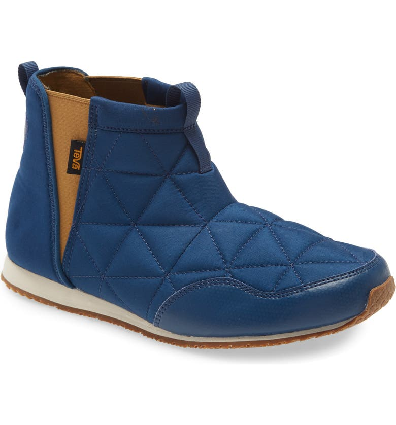 TEVA Ember Quilted Bootie, Main, color, POSEIDON