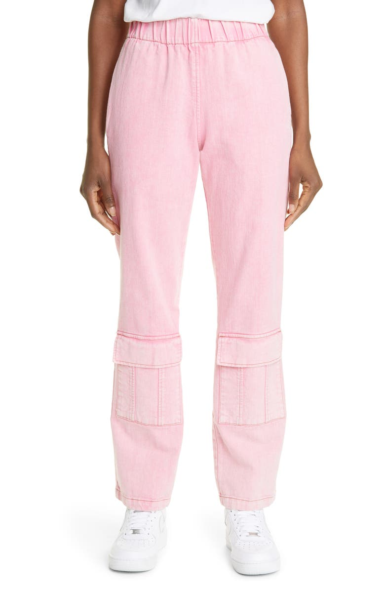 LIBERAL YOUTH MINISTRY Unisex Calvin Washed Cargo Jeans, Main, color, PINK