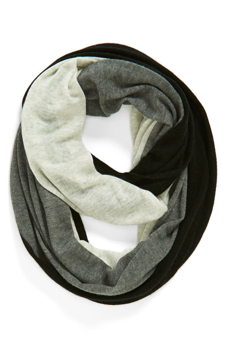 HALOGEN<SUP>®</SUP> Tricolor Cashmere Infinity Scarf, Main, color, 001