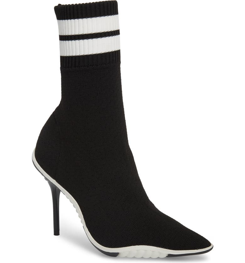 JEFFREY CAMPBELL Goal Sock Sneaker Bootie, Main, color, 001