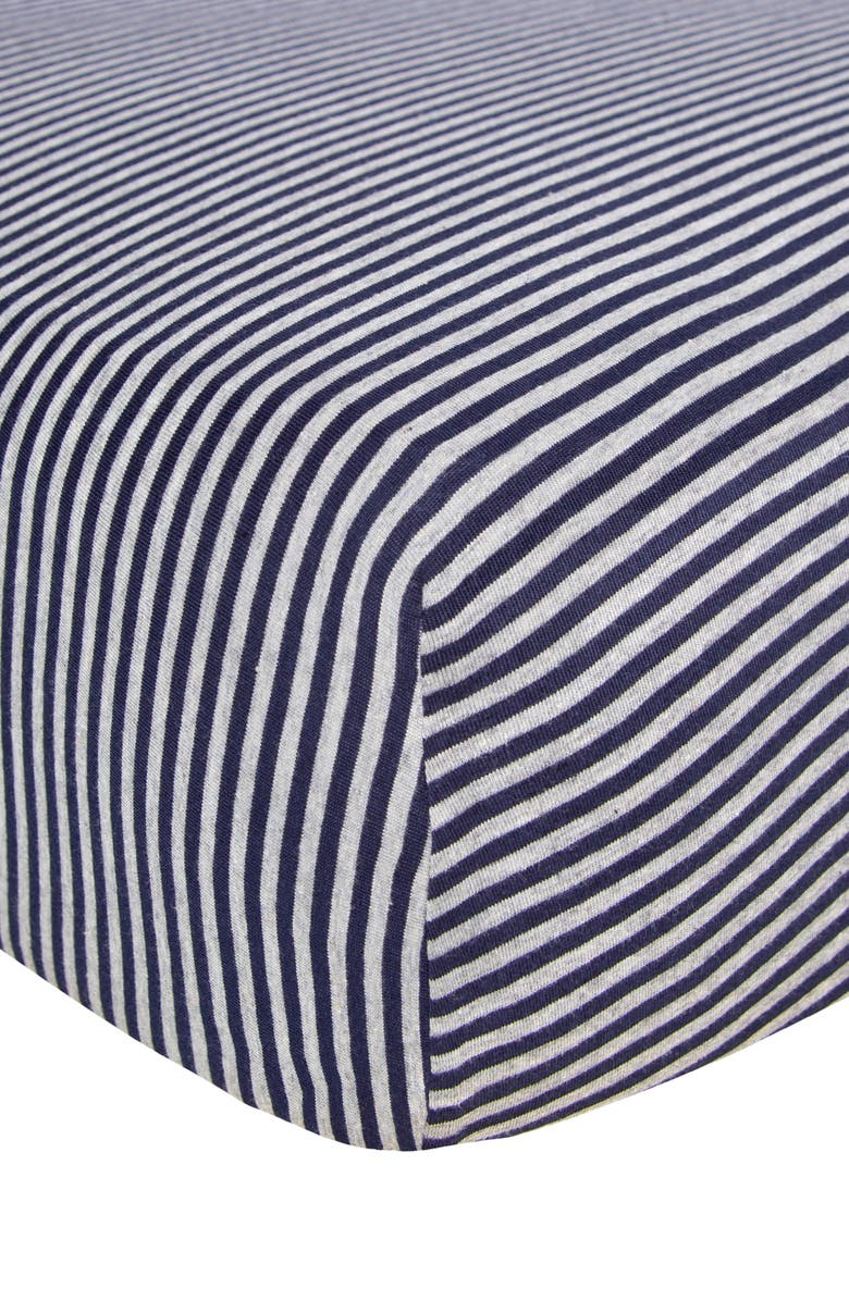 BURT'S BEES BEESNUG<sup>®</sup> Organic Cotton Fitted Crib Sheet, Main, color, BLUEBERRY