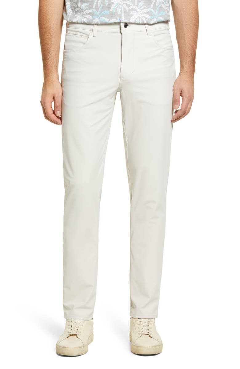 JOHNNIE-O Cross Country Classic Performance Five-Pocket Pants, Main, color, STONE