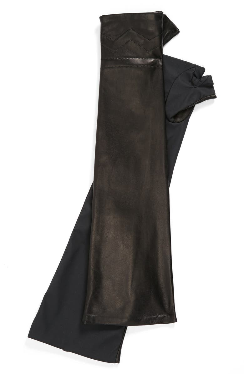VINCE CAMUTO Chevron Quilted Arm Warmers, Main, color, 001