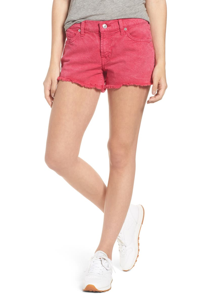 7 FOR ALL MANKIND<SUP>®</SUP> Cutoff Denim Shorts, Main, color, 650