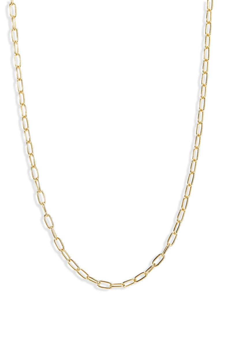 MADEWELL Delicate Collection Demi-Fine Paperclip Chain Necklace, Main, color, 710
