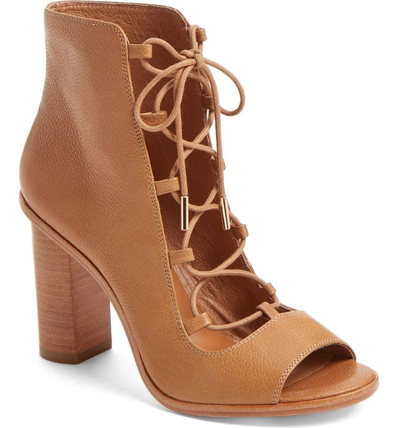 JOIE 'Cordelia' Lace-Up Sandal, Main, color, WHISKEY PEBBLED LEATHER