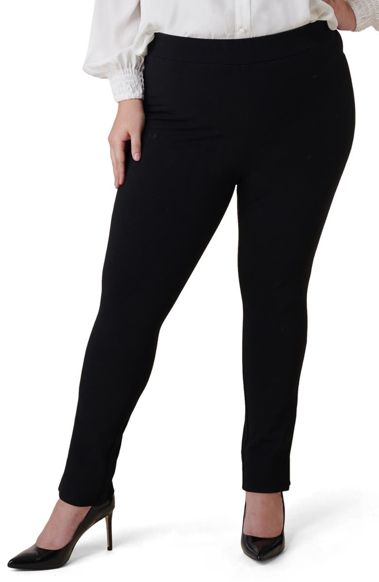 MARÉE POUR TOI Skinny Compression Knit Pants, Main, color, 001
