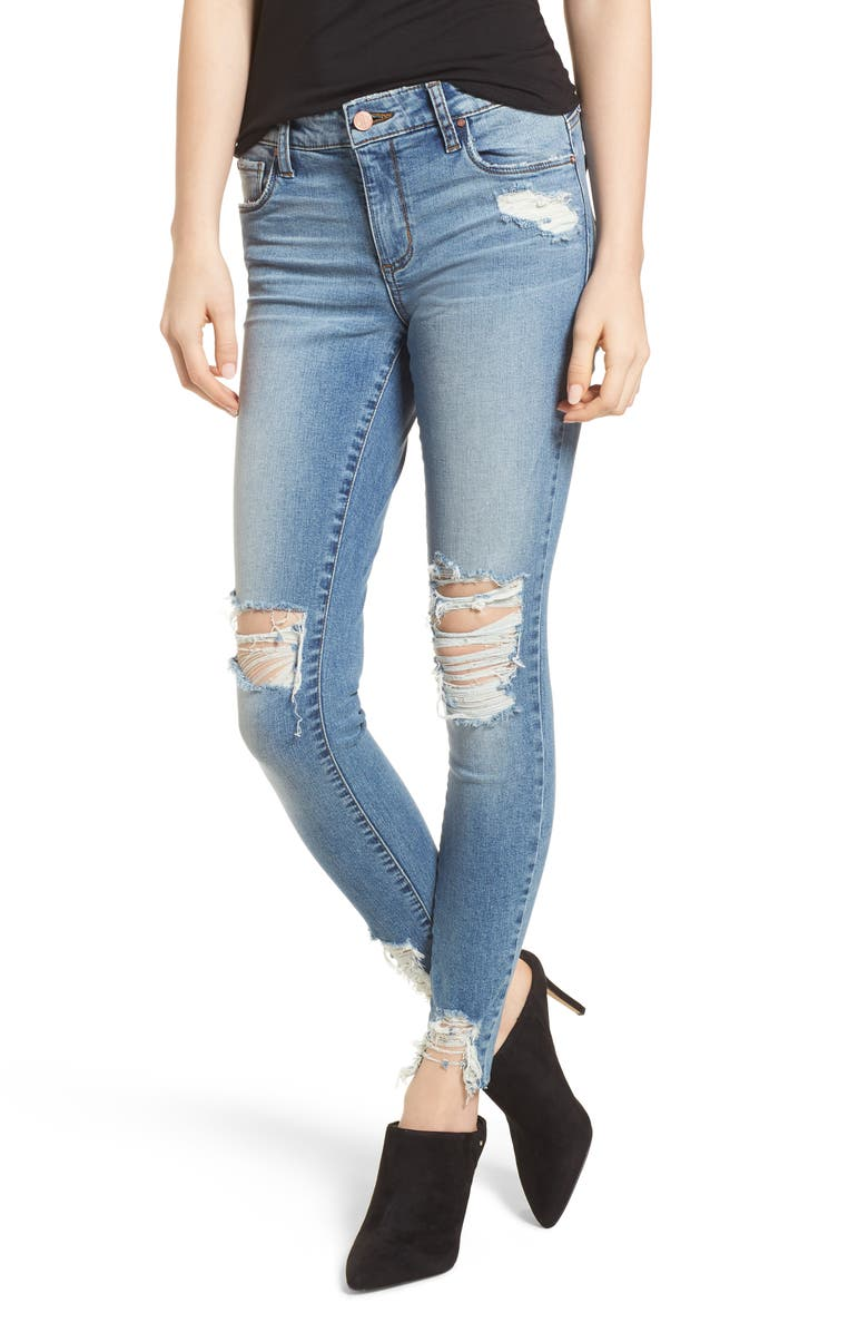 BP. Ripped Skinny Jeans, Main, color, VINTAGE