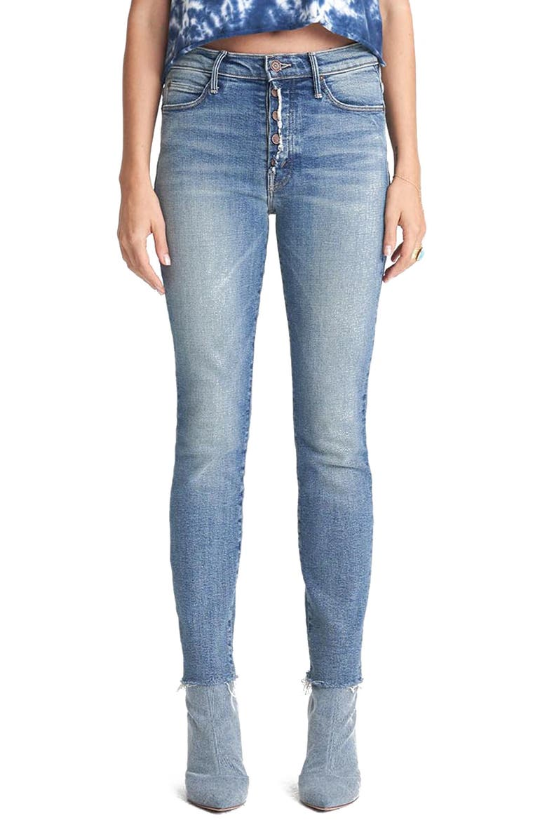 MOTHER The Fly Cut Stunner Fray Hem Ankle Jeans, Main, color, 420