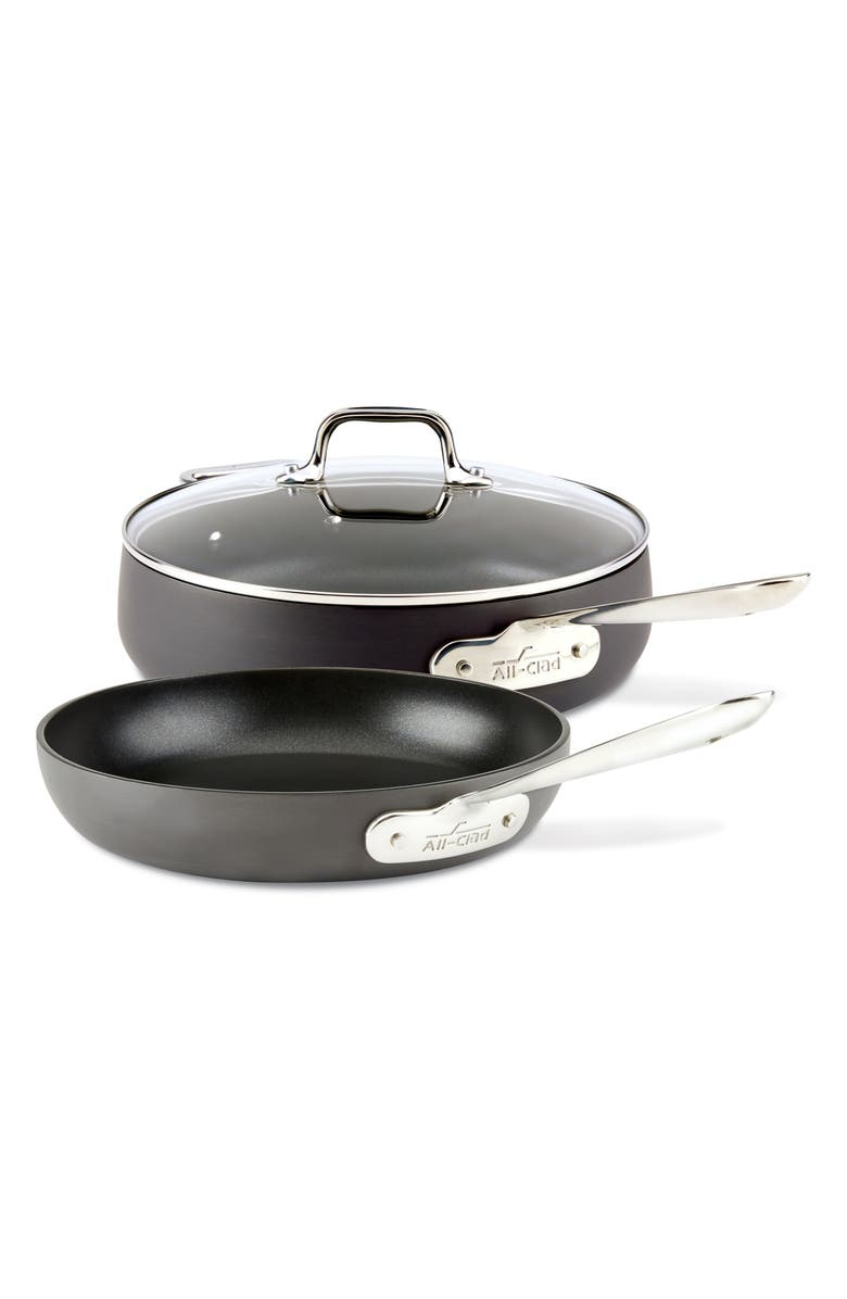 ALL-CLAD HA1 Hard Anodized 3-Piece Sauté Pan Set, Main, color, 001