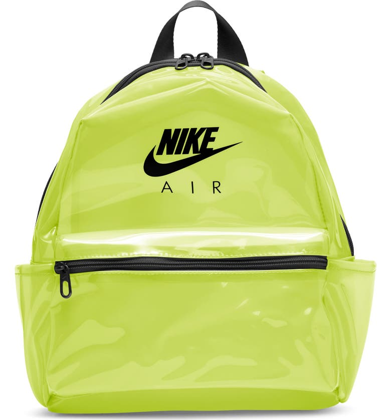 NIKE Mini JDI Clear Backpack, Main, color, CLEAR VOLT/ VOLT/ BLACK