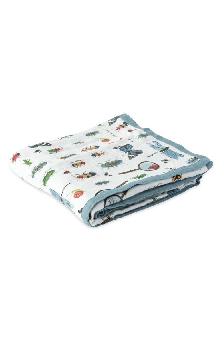 LITTLE UNICORN Deluxe Muslin Quilt, Main, color, BUGS