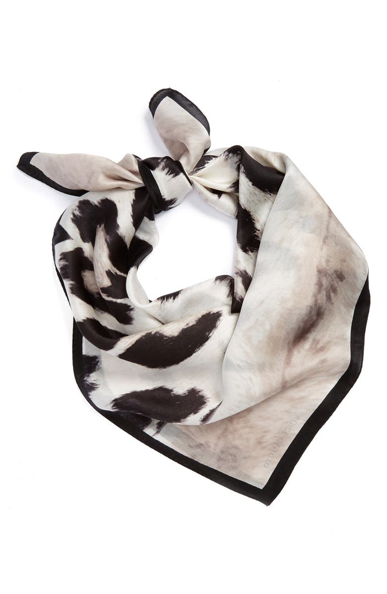 VINCE CAMUTO 'Wild Thing' Silk Scarf, Main, color, 001