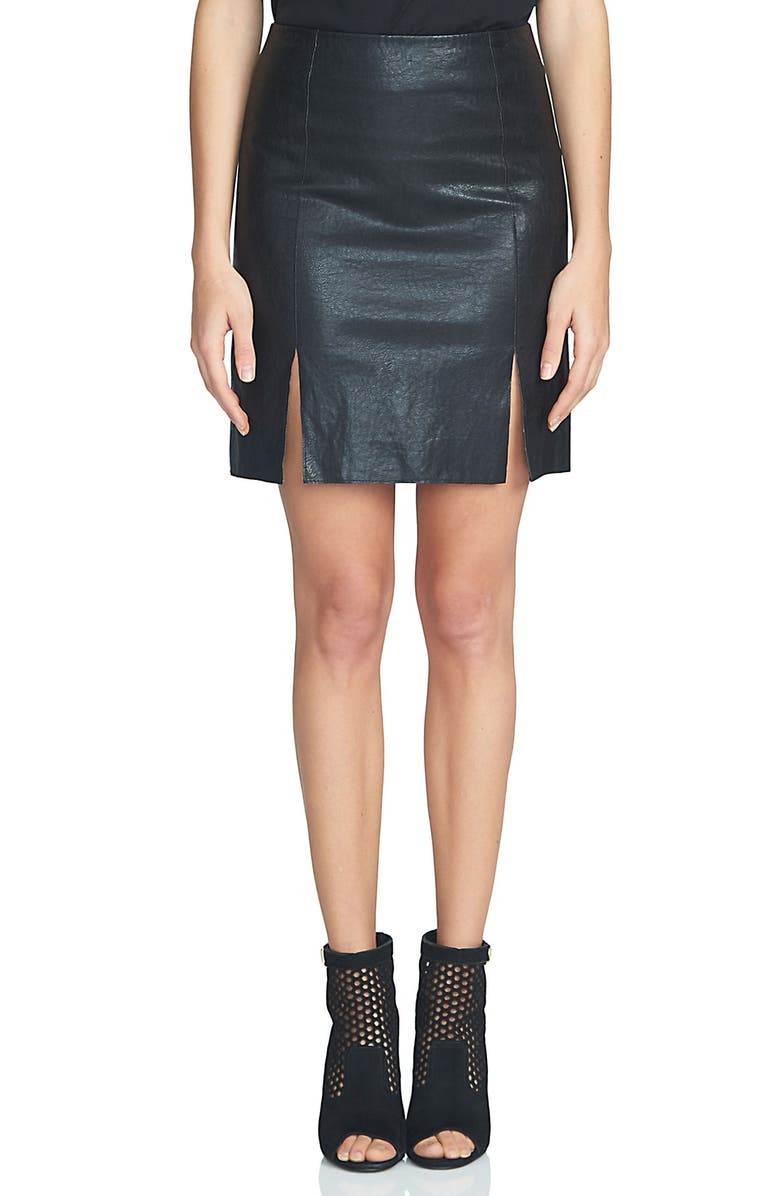 1.STATE A-Line Faux Leather Miniskirt, Main, color, 006