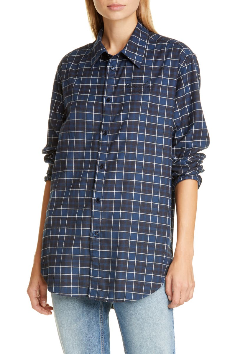 MARTINE ROSE Classic Button-Up Shirt, Main, color, 400
