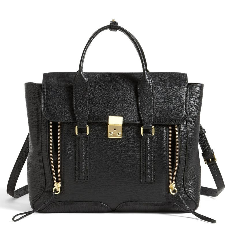 3.1 PHILLIP LIM 'Large Pashli' Leather Satchel, Main, color, 001
