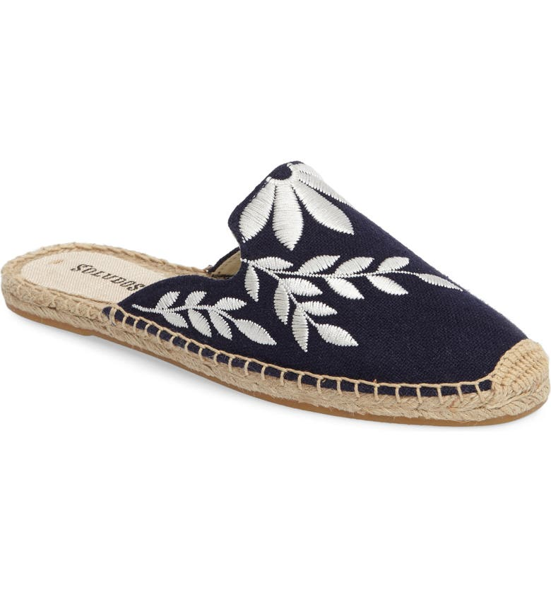 SOLUDOS Embroidered Espadrille Mule, Main, color, 480