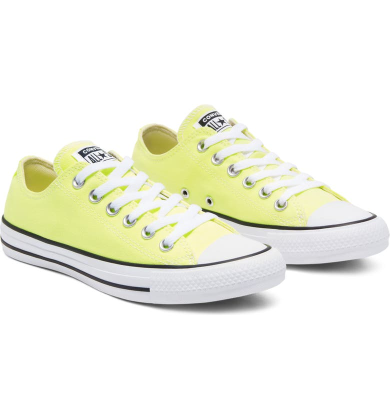 CONVERSE Chuck Taylor<sup>®</sup> All Star<sup>®</sup> Seasonal Ox Low Top Sneaker, Main, color, LIGHT ZITRON