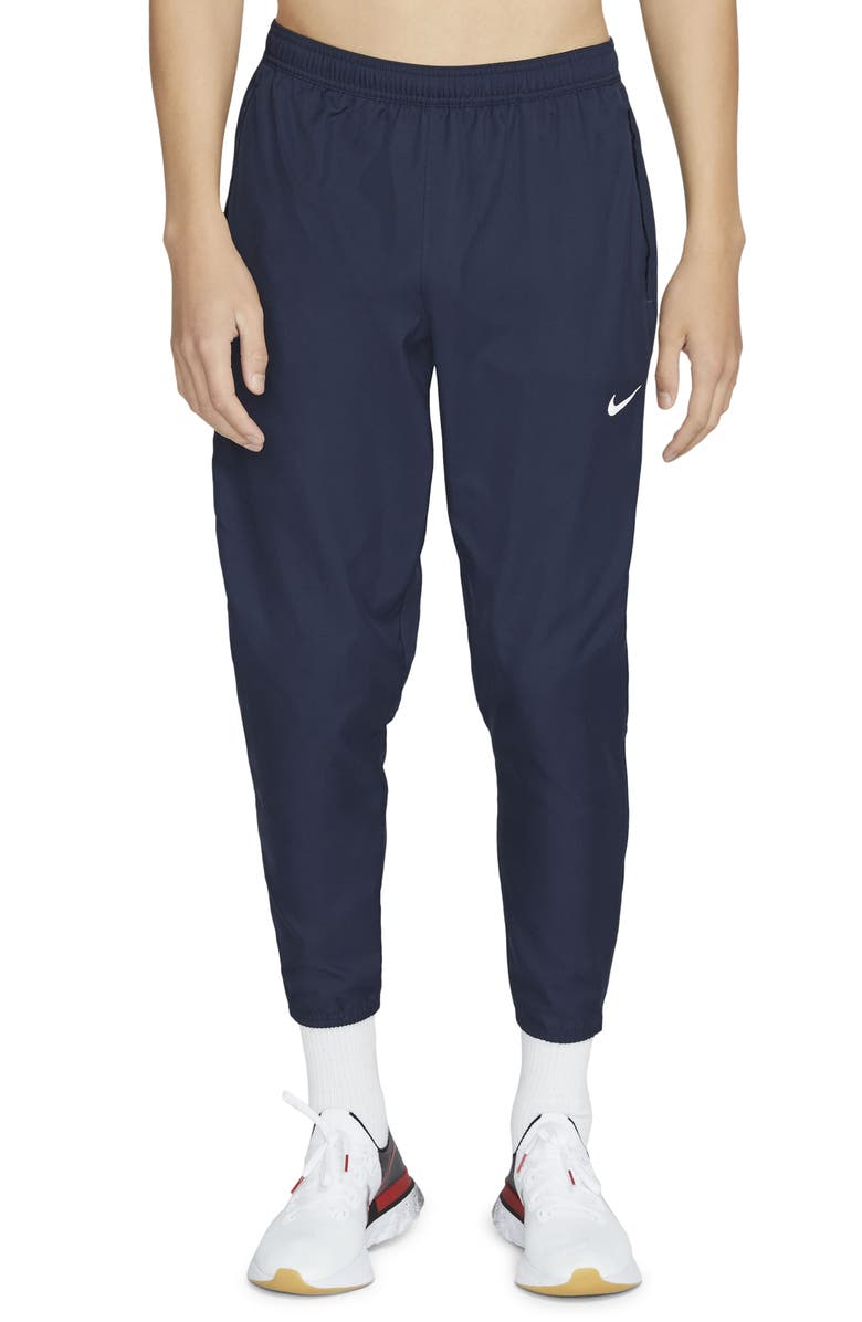 NIKE Men's Dri-FIT Essential Woven Pocket Running Pants, Main, color, OBSIDIAN/ OBSIDIAN