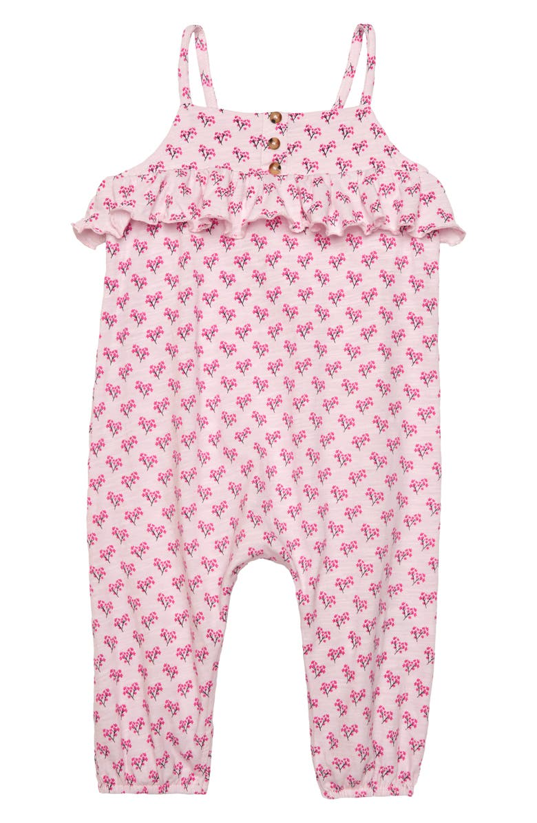 SEED HERITAGE Ruffle Jersey Romper, Main, color, 650