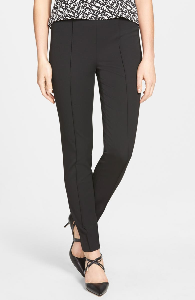 VINCE CAMUTO Side Zip Stretch Twill Pants, Main, color, 006