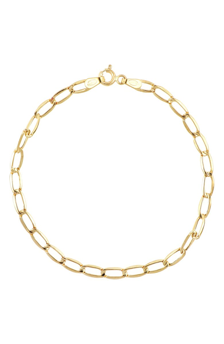 BONY LEVY 14K Gold Flat Oval Chain Link Bracelet, Main, color, YELLOW GOLD