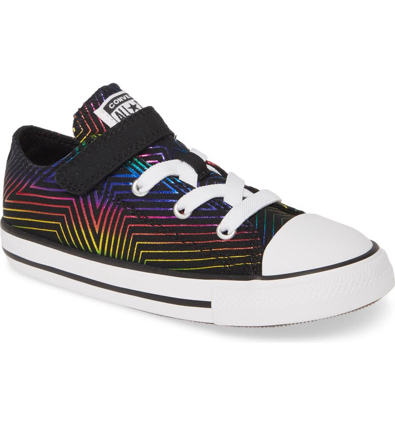 CONVERSE Chuck Taylor<sup>®</sup> All Star<sup>®</sup> 1V Rainbow Star Low Top Sneaker, Main, color, 001