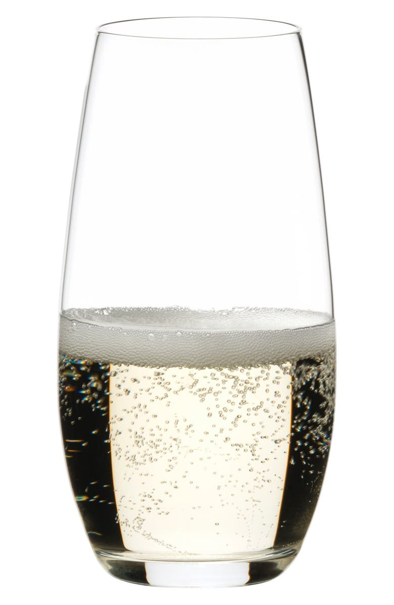 RIEDEL 'O' Stemless Champagne Glasses, Main, color, CLEAR