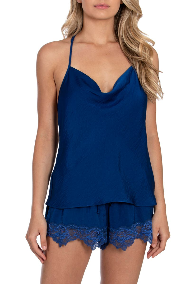 IN BLOOM BY JONQUIL A Taste of Honey Short Satin Pajamas, Main, color, COBALT BLUE