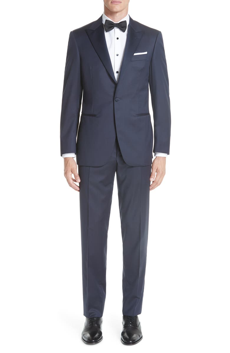 CANALI Classic Fit Wool Tuxedo, Main, color, 400