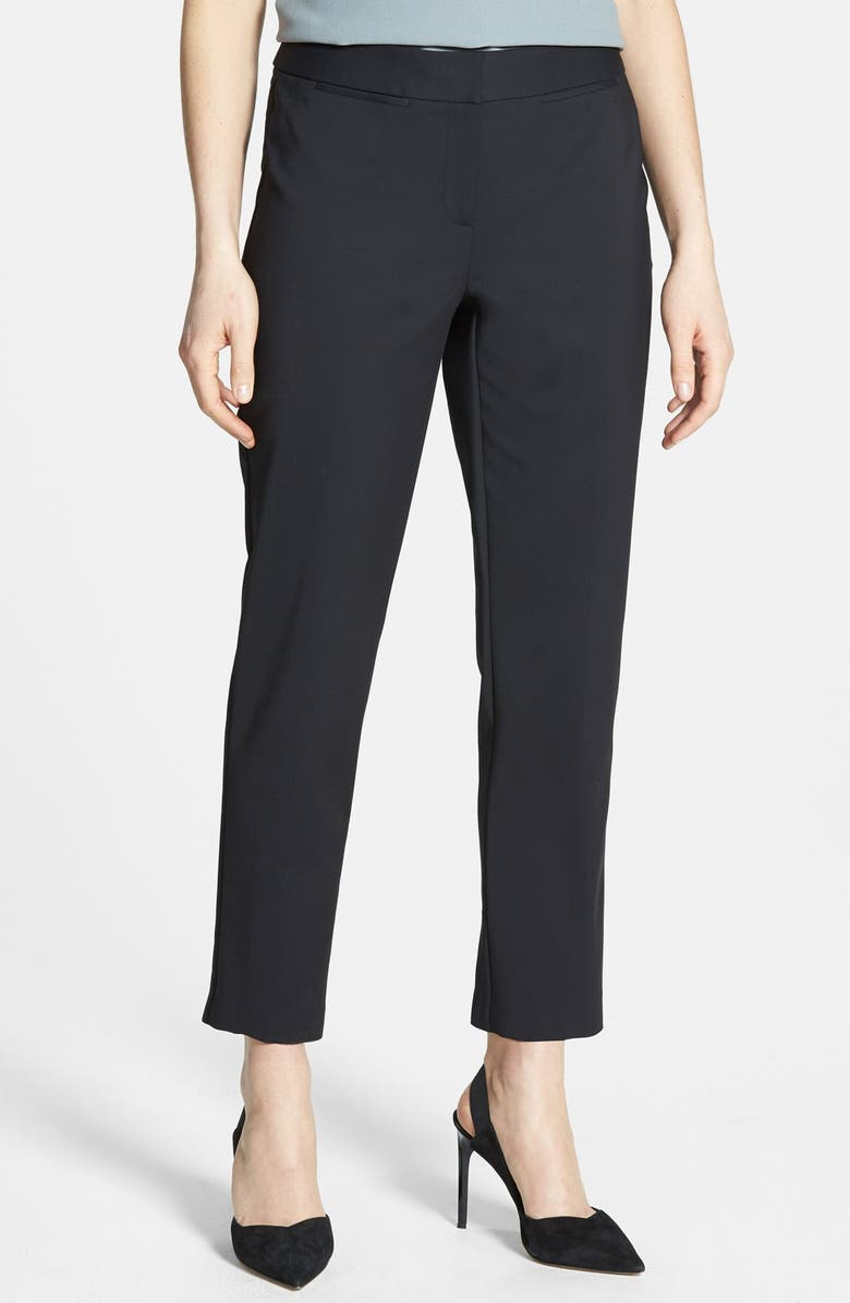 NORDSTROM COLLECTION 'Veloria' Slim Ankle Pants, Main, color, 001