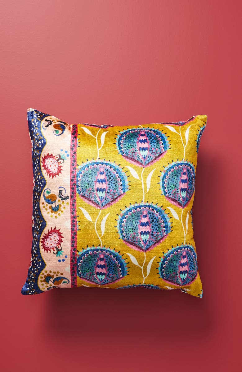 ANTHROPOLOGIE HOME Anthropologie Delissa Velveteen Accent Pillow, Main, color, 700