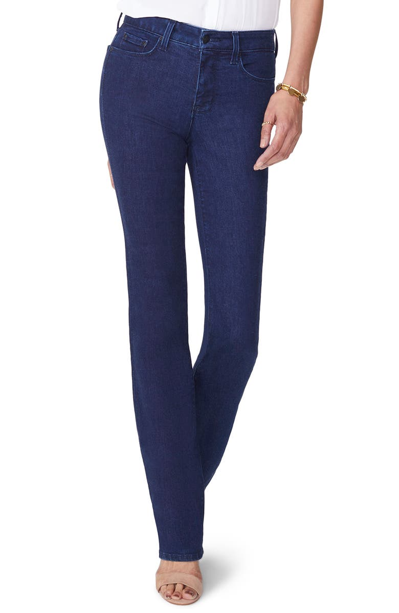 NYDJ Marilyn Stretch Straight Leg Jeans, Main, color, RINSE