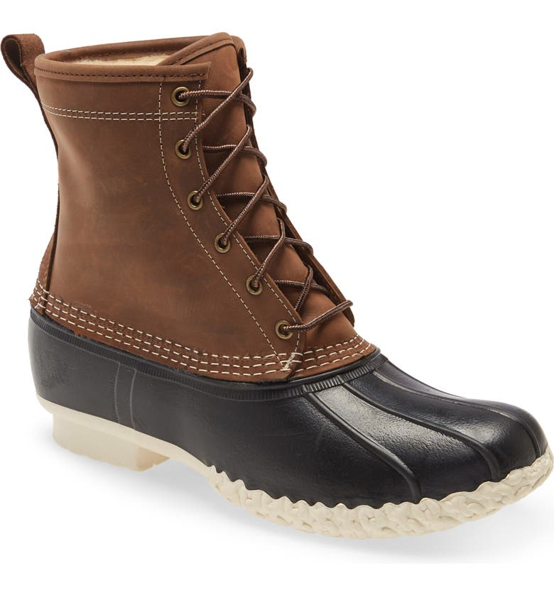 L.L.BEAN Genuine Shearling Lined Bean Boot, Main, color, 200