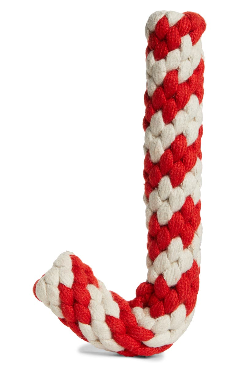 WARE OF THE DOG Candy Cane Cotton Rope Dog Toy, Main, color, 600