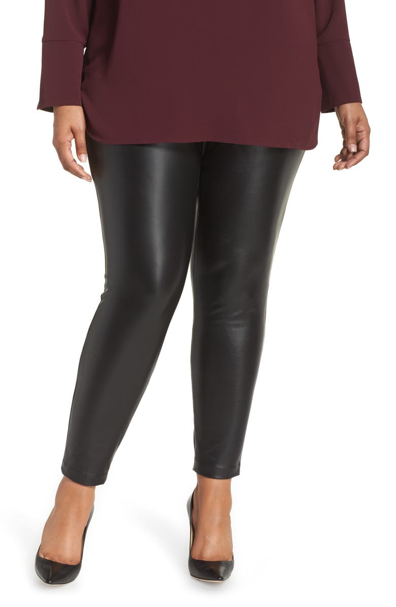 VINCE CAMUTO Stretch Faux Leather Skinny Pants, Main, color, 002