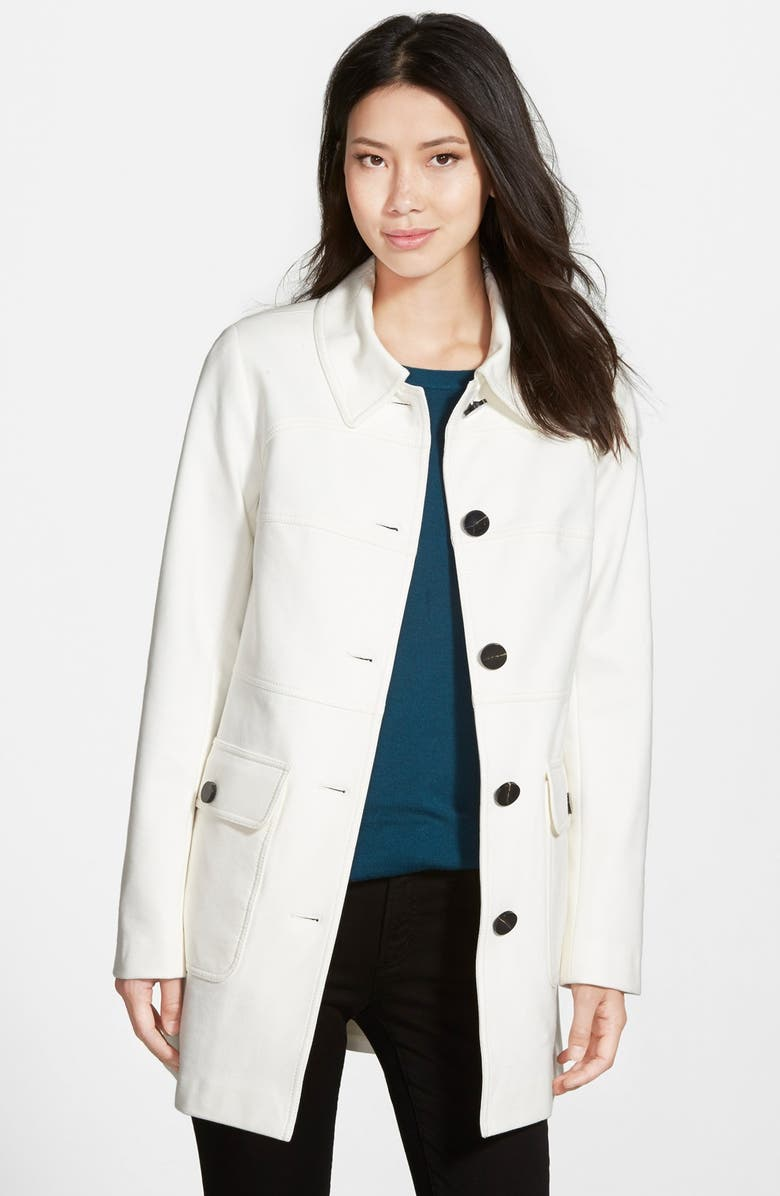 VINCE CAMUTO Single Breasted Ponte Knit Coat, Main, color, 270